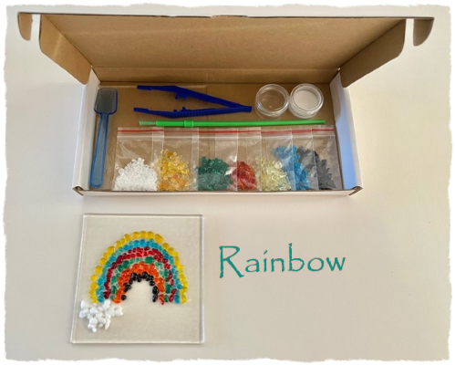 Fused Glass Craft Box - Rainbow Suncatcher