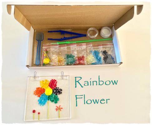 Fused Glass Craft Box - Rainbow Flower Suncatcher