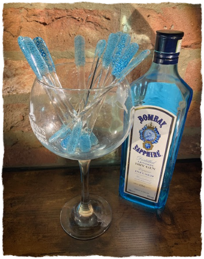 Swizzle Stick Drink Stirrers - Light Blue