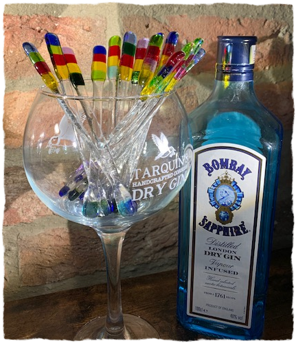 Swizzle Sticks Drink Stirrers - Rainbow